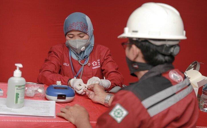 Gelar Donor Darah di Tengah Pandemi, Semen Gresik Sumbang Ratusan Kantong Darah untuk 3 Kabupaten
