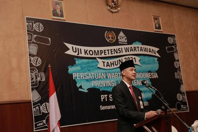 Dihadiri Gubernur Ganjar, SG-PWI Jateng Sukses Adakan UKW Se-Jawa Tengah
