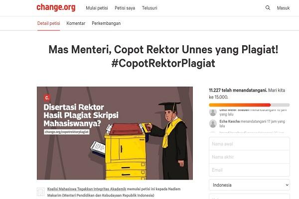 Muncul Petisi untuk Mendikbud, Isinya Minta Rektor Unnes Dicopot