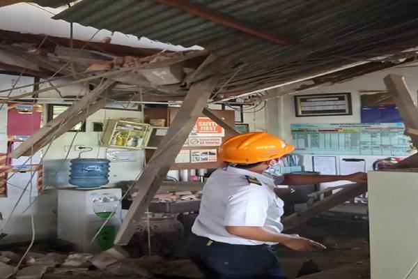 Berstatus Cagar Budaya, Tembok Stasiun Pekalongan Roboh