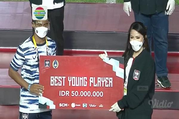 Pemain PSIS Pratama Arhan Jadi Pemain Muda Terbaik Piala Menpora 2021