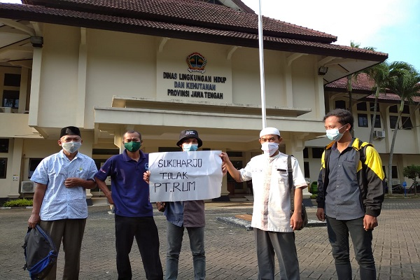 Datangi Kantor DLHK Jateng, Warga Nguter Kembali Keluhkan Limbah PT RUM Sukoharjo