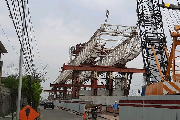 Jalan Layang Bandara Ahmad Yani Semarang Ditarget Rampung Agustus 2021