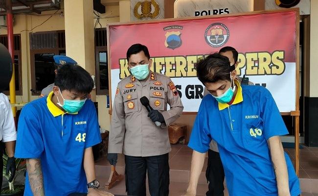 Dor! Dua Begal Asal Demak Dilumpuhkan Polisi Grobogan