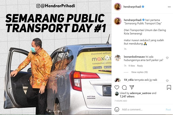 Pamer Naik Taksi Online di Hari Transportasi Umum, Wali Kota Semarang Tuai Kritik