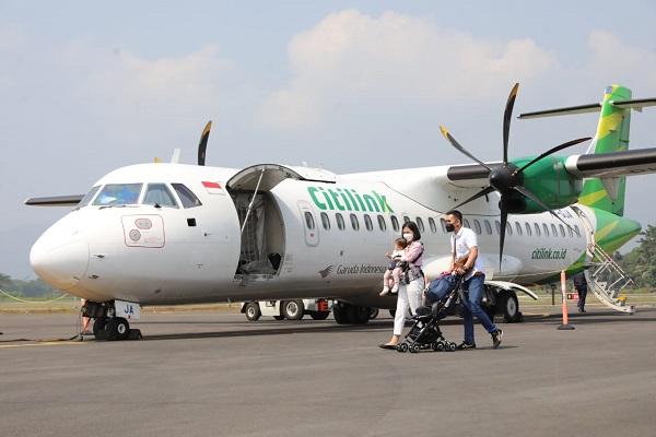 Bandara Jenderal Besar Soedirman Purbalingga Resmi Beroperasi, Pesawat Citilink dari Surabaya Mendarat Pertama
