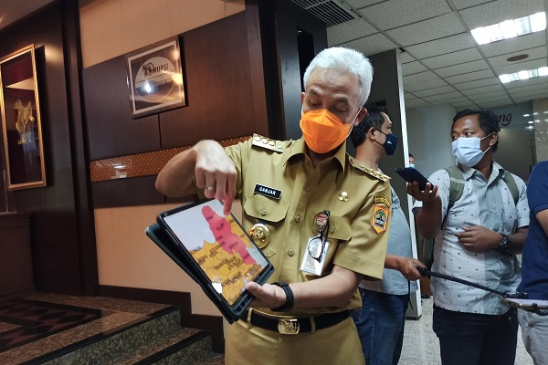 13 Daerah di Jaten Zona Merah Covid-19, Gubernur Ganjar Perintahkan Mikro Lockdown