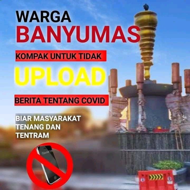 Beredar Poster Larang Unggah Berita Covid-19 di Banyumas Raya, Begini Respons Gubernur Jateng