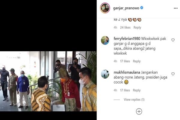 Pakai Baju Adat & Masker, Gubernur Ganjar Dicuekin Mendagri Tito Karnavian