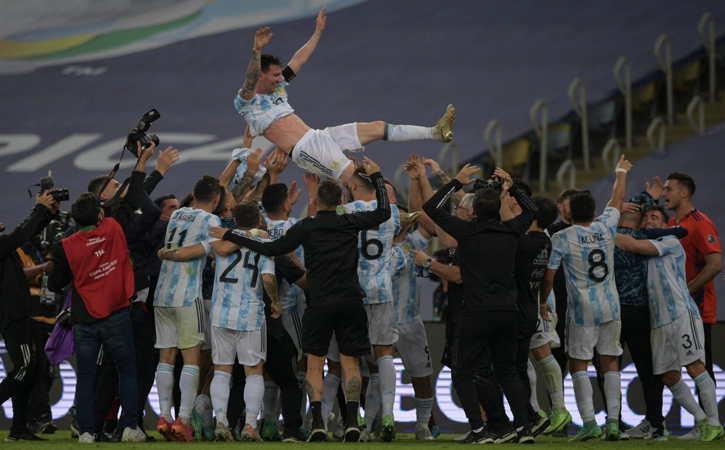 Akhirnya, Messi Bawa Argentina Juara Copa America 2021