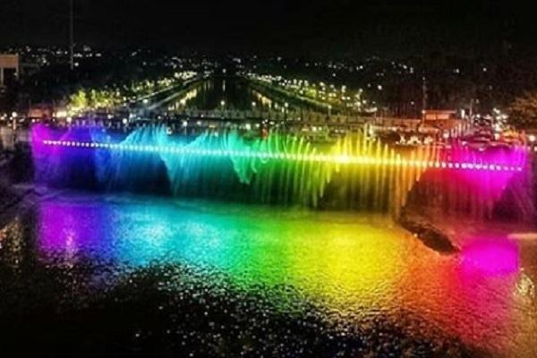 Asyik! Semarang Bridge Fountain Kembali Nyala Akhir Pekan Ini