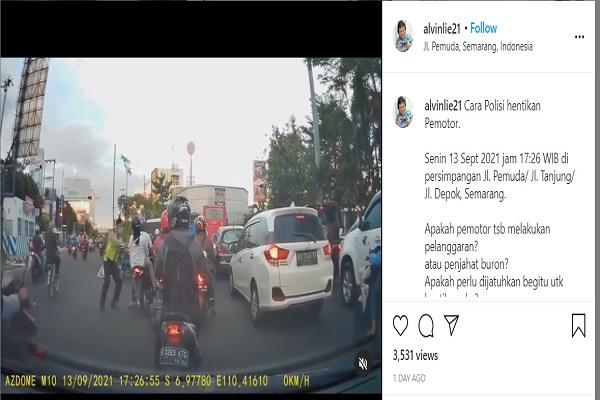 Mantan Komisioner ORI Kritisi Cara Polisi Semarang Hentikan Pengendara, Begini Tanggapan Polda Jateng
