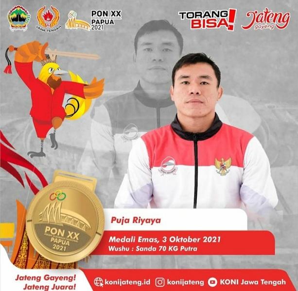 PON Papua, Atlet Wushu dan Muaythai Asal Grobogan Sumbang Emas