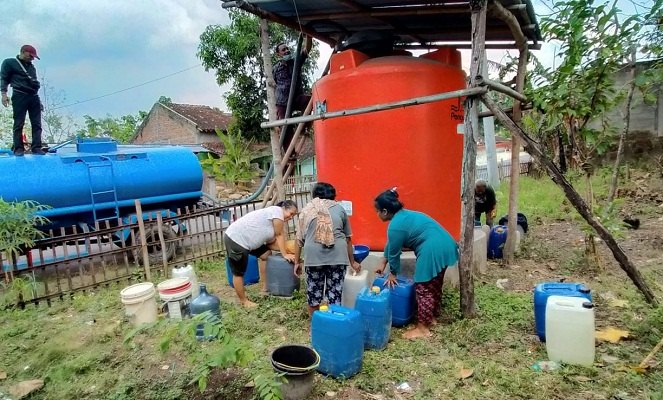 Dampak Kekeringan, Warga Tiga Desa di Sragen Kesulitan Air Bersih