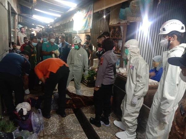Pengunjung Pasar Jungke Karanganyar Meninggal Saat Belanja
